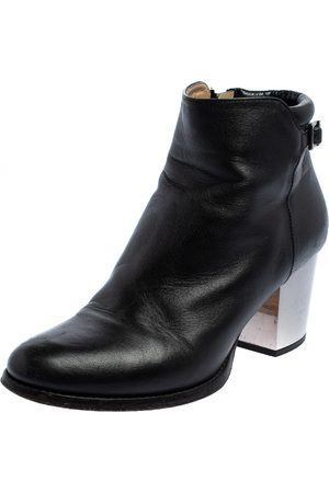 Jimmy Choo Leather Zipper Ankle Boots Size 35.5