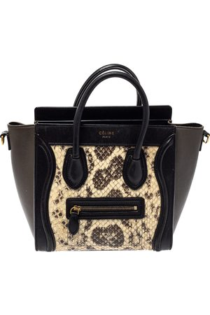Céline Tri Color Python and Leather Nano Luggage Tote