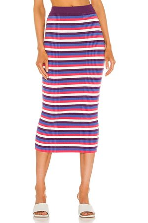 Victor Glemaud Varigated Rib Skirt in Purple,White.