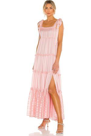 LOVESHACKFANCY Burrows Dress in Blush.