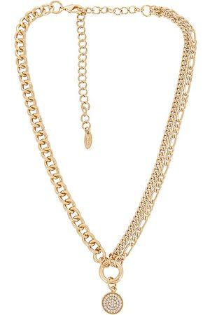 Ettika Pendant Chain Necklace in Metallic .
