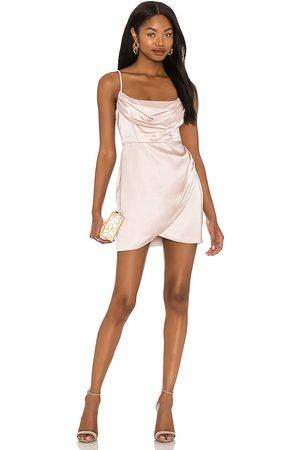 Nookie Dream Draped Mini Dress in Nude.