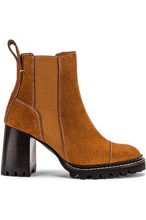 See by Chloé Mallory Boot in Rust.