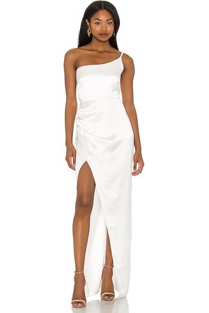 Nookie Grace One Shoulder Gown in Ivory.