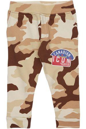 Dsquared2 Boys Sweatpants - Camouflage Print Cotton Sweatpants