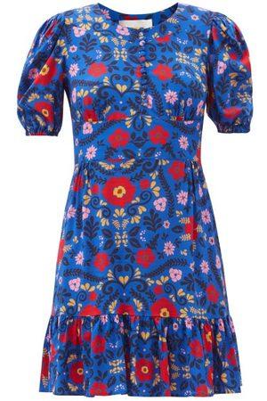 La DoubleJ Women Printed Dresses - Coquette Floral-print Dress - Womens - Multi