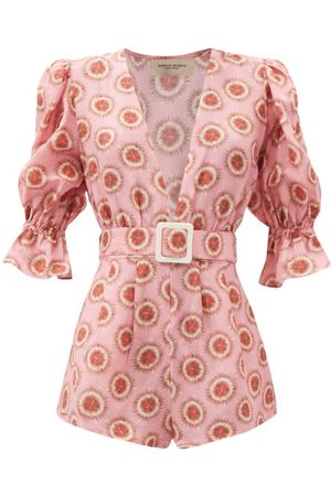 Adriana Degreas Exotic Passion Belted Playsuit - Womens - Print