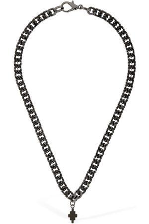 MARCELO BURLON Cross Logo Short Chain Necklace