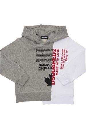 Dsquared2 Printed Cotton Sweatshirt Hoodie