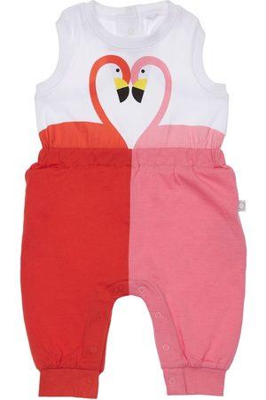 Stella McCartney Flamingo Print Organic Cotton Romper