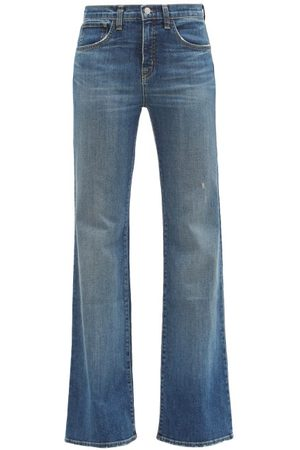 NILI LOTAN Women Flares - Celia Flared-leg Jeans - Womens - Mid