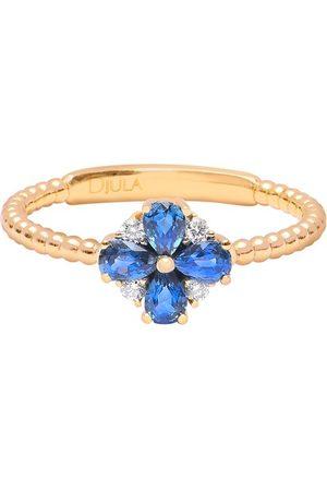 DJULA Ring flower - sapphire