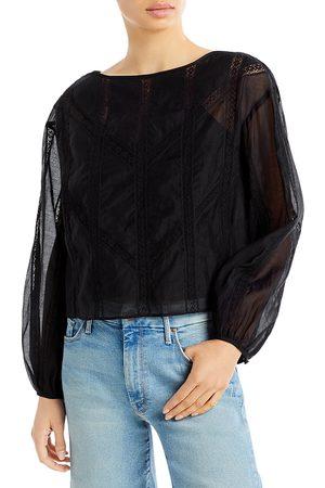 REBECCA TAYLOR Women Tops - Organza Sheer Sleeve Top