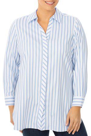 Foxcroft Women Tunics - Vera Striped Shaped Tunic Shirt