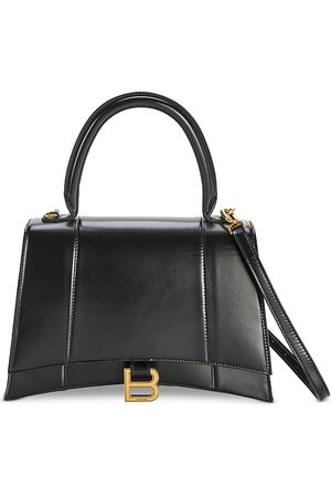 Balenciaga Women Purses - Hourglass Small Leather Top Handle Bag