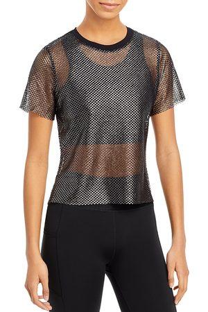 Urban Savage Women T-shirts - High/Low Mesh Tee
