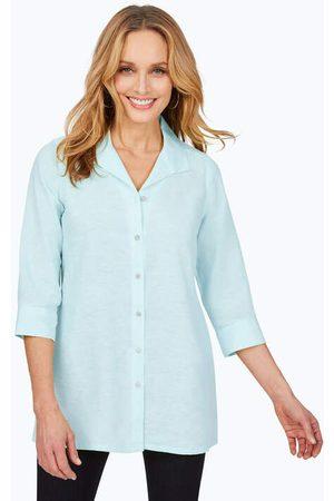 Foxcroft Women Tunics - Stirling Non-Iron Linen Tunic