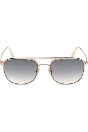 Tom Ford Men's Jake 56MM Navigator Sunglasses - Shiny Rose