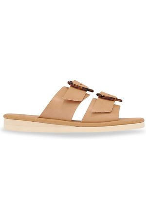 Ancient Greek Sandals Women's Iaso Hearts Leather Wedge Sandals - Natural - Size 7