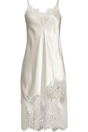 GINIA Women's Blaise Silk Chemise - Ivory - Size XL