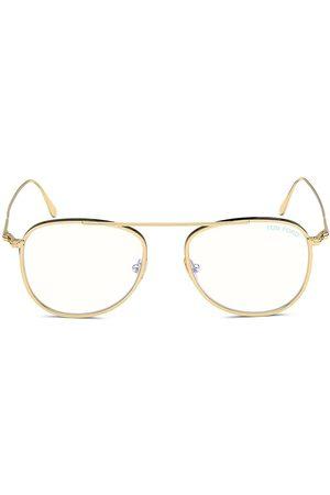 Tom Ford Men's 52MM Aviator Block Lens Glasses