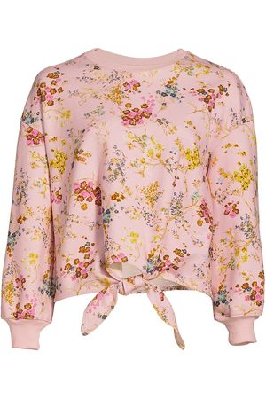 Cinq A Sept Women's Parker Sakura Floral Tie-Front Pullover - Cameo - Size Medium
