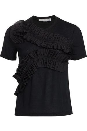 UNTTLD Women's Serpent Ruffle T-Shirt - - Size 10