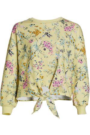 Cinq A Sept Women's Parker Sakura Floral Tie-Front Pullover - Lemonade - Size Medium