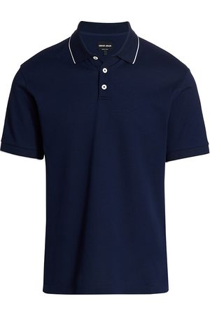 Armani Men's Polo Shirt - Navy - Size 46