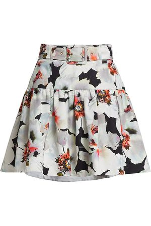 TANYA TAYLOR Women's Carrie Belted Floral Skirt - Size 10