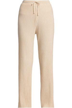 JOHN ELLIOTT Women's Rib-Knit Terry Sweatpants - Cloud - Size Large