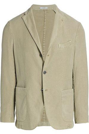 Boglioli Men's Virgin Wool Knit Jersey Sportcoat - Olive - Size 44