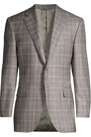 CANALI Men's Plaid Wool Jacket - - Size 40