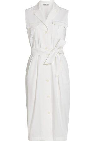 Max Mara Women's Elica Sleeveless Trench Dress - Bianco Ottico - Size 14