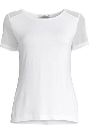 Anatomie Women T-shirts - Women's Melissa Mesh Sleeve T-Shirt - - Size Large