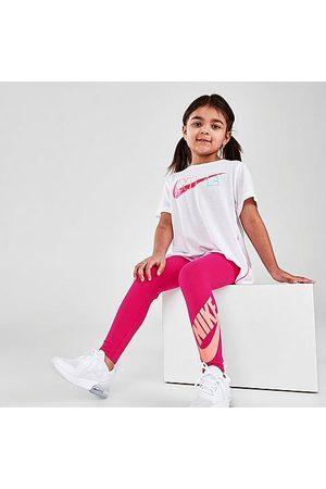 Nike Girls' Little Kids' Sportswear Leggings in /Fireberry Size 4 Cotton/Knit