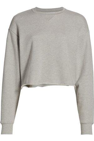 JOHN ELLIOTT Women's Snyder Cropped Crew Sweatshirt - Light Heather Grey - Size XS