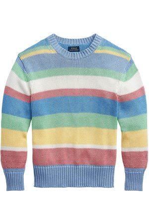 Polo Ralph Lauren Women's Striped Polo Knit Sweater - Jersey Stripes - Size Large