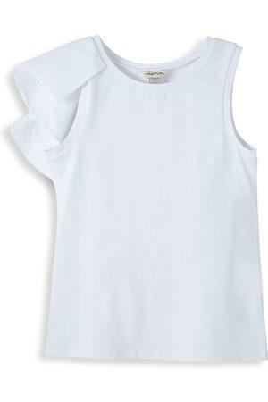 HABITUAL Girl's Asymmetrical Knit & Woven Top - - Size 12