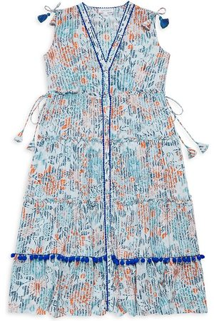 Poupette Nyc Little Girl's and Girl's Ivy Maxi Dress - Sky - Size 5
