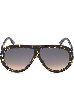Tom Ford Men's Troy 61MM Pilot Sunglasses - Shiny Dark Havana