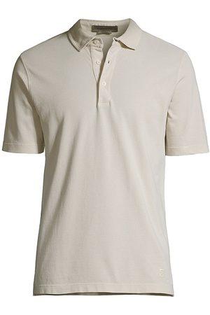 corneliani Men's Washed Polo - Creme - Size 38