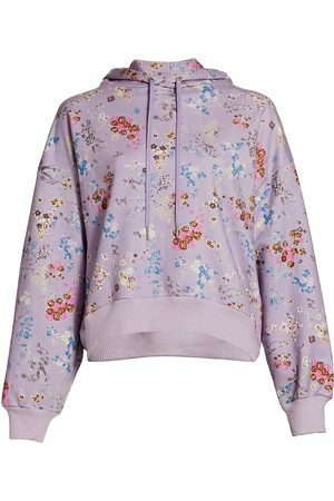 Cinq A Sept Women's Blaire Floral Hoodie - Lilac Smoke - Size Medium