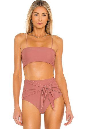 Juillet Kirke Bikini Top in Mauve.