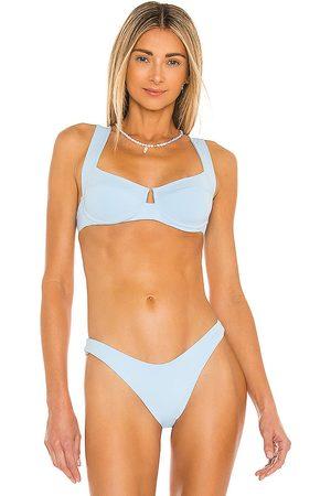 L*Space Camellia Bikini Top in Baby .