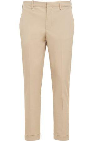 Neil Barrett Slim Stretch Tech Pants W/zip Cuffs