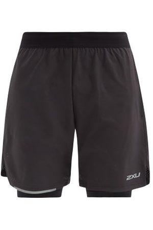 2XU Men Shorts - Aero Double-layer Technical Running Shorts - Mens