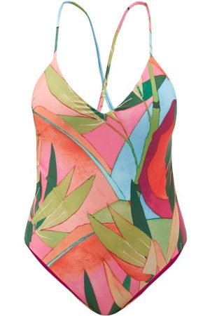 Mara Hoffman Women Swimsuits - Emma Tropical-print Scoop-back Swimsuit - Womens - Multi