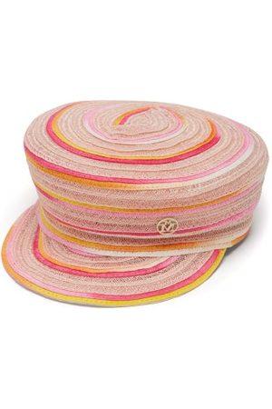 Maison Michel New Abby Tie-dye Woven-hemp Baker Boy Cap - Womens - Multi