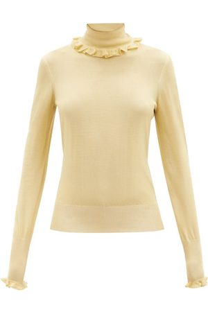 Victoria Beckham Women Turtlenecks - Ruffled Roll-neck Sweater - Womens